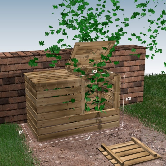 Composteur Woodself Le Site Des Plans De Meubles Gratuits - Comment fabriquer un composteur exterieur